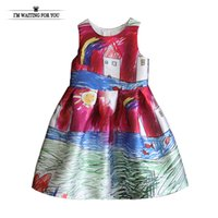 Wholesale- Baby dresses cute baby girl clothes cotton kids d...