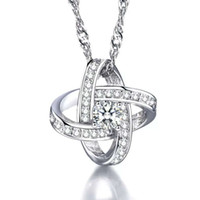 925 sterling silver necklaces Swiss crystal jewelry pendant ...