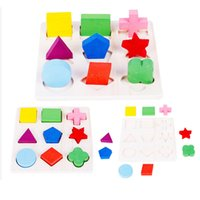 Set Kids Baby Wooden Learning Geometry Cognition Educational...