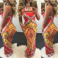 Sexy Backless Bohemia Print Dress