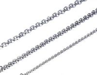 도매 20PCS 실버 컬러 패션 스테인레스 스틸 얇은 2mm / 3mm 강한 타원형 링크 체인 목걸이 18 ''/ 20''for 여성 여자 보석