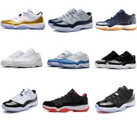 classic 11 11s Low Bred gold basketball shoes sneakers new b...