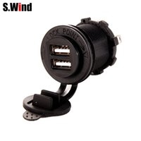 Wholesale- Waterproof Motorcycle Dual USB Charger Socket Out...