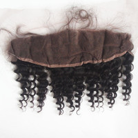Malaysian Deep Wave Lace Frontal Closure 13*4 inch Unprocess...