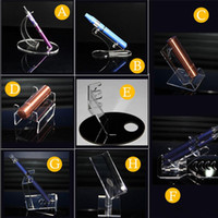 Akryl E cig Display Hylla Klar Stativhållare Rack för ång-ecig Förångare Pen Elektronisk cigarett Ego T Ego Q batteri och tank
