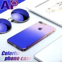 Case For iPhone X 8 7 Plus Aurora Gradient Color Transparent...
