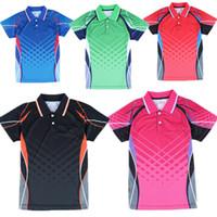 Novo tênis de mesa / badminton desgaste camisas de manga curta de verão homens de tênis / mulher camisa de lazer frete grátis