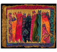 В рамке Pure Handpainted Современный Abctract Animal Art Картина Маслом, на Холсте Высокого Качества Для Домашнего Декора Multi размеры Бесплатная Доставка