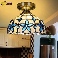 FUMAT 5 8 12 14 16 Inch Blue Lilac Ceiling Light Natural She...