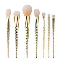 Sıcak makyaj makyaj fırçaları 7 adet profesyonel güzellik kozmetik fırçalar setleri ücretsiz kargo B13