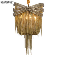 Bronze Aluminum Chandelier Light Italian Tassel Design Chain...