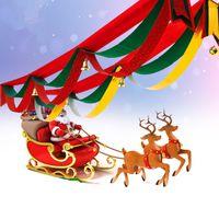 2 متر داخلي زينة عيد الميلاد حزب شنقا الديكور العلم راية نافذة الفن ديكور عيد الميلاد الحلي مع الأغنية اجراس
