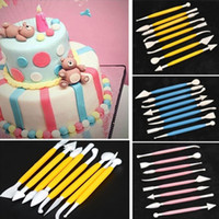 8pcs Lot 16 Patterns Fondant Cake Decorating Flower Sugar Cr...