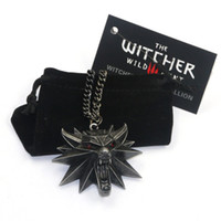 New Wizard the witcher 3 wild hunt medallion pendant necklac...