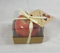 Neu ankommen Vintage Apfelkerze Home Docor Romantische Party Dekorationen Apfel duftende Kerzen Geburtstag Weihnachten Hochzeit Dekor Kerzen