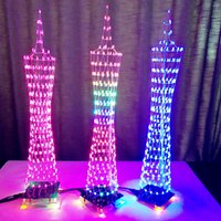 3D DIY Kits Light Cube Electronic Tower Colorful LED Display...