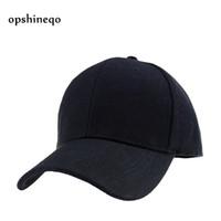 Оптовая торговля-Opshineqo черный взрослый унисекс повседневная твердые регулируемые бейсболки женщины Snapback шляпы белый бейсболка шляпа мужчины