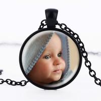 Colgantes personalizados personalizados Foto Colgantes Collar personalizado Foto de su bebé Niño Mamá Papá Abuelo Amó Un regalo para un miembro de la familia Regalo