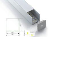 100 X 1 M Sätze / Los Aufputz Aluprofil geführte Streifenlicht und Karree Typ führte Aluminiumstab für Bodenbelag oder Wandleuchten