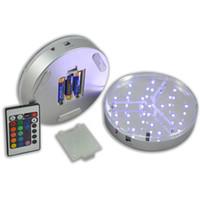 متعدد الألوان 6INCH شاشة LED قاعدة الخفيفة 15CM الجدول بقيادة زهرية مع البعيد الإضاءة يرتكز حفل زفاف تحكم الديكور