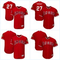 2017 Spring Training Jersey Jersey 2017 Los Angeles Angels of Anaheim Jersey Hommes Cool Base Flexbase Maillot de baseball en ligne