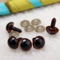 5 pçs / lote 10-18mm Bonecas De Plástico Segurança Brinquedo Olhos Globos Oculares Para Fazer Urso Brinquedos Macios Animal Mask Boneca Artesanato DIY Recheado Acessórios