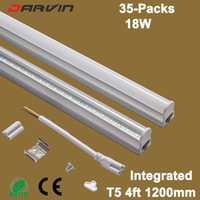 T5 Tube 120cm 1200mm 4ft 18W Led Tube Lampe Fluorescente Intégrée T5 Led Lampe Fluorescente Haute Lumineux AC85-265V 110V 220Vled tube