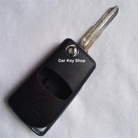 Левый Лезвие Модифицированный Флип Складной Пульт Дистанционного Ключа от Автомобиля Shell Для Mitsubishi Pajero Sport Сменный Корпус 2 Кнопка