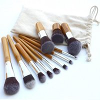 11 Pieces Makeup Brush Set Bamboo Handle Professional Powder...
