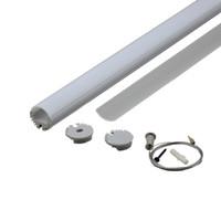 LED 조명 및 Al6063 T6 10 X 1M 세트 / 많은 라운드 형 알루미늄 프로 천장 또는 펜던트 램프 알루미늄 프로파일 주도