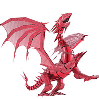 3D Puzzle Dragon Laser Cut Models Jigsaw Toy FLAME Metal Puz...