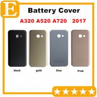 OEM Yeni Arka Pil Kapağı Kapı Konut + Yapıştırıcı Için Samsung Galaxy A3 A320 2017 A5 A520 A7 A720 Arka Durumda Kapak 30 ADET