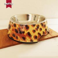 جودة عالية للانفصال المزدوج عدم الانزلاق الفولاذ المقاوم للصدأ الفهد المياه الكلب وعاء DB-004