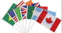 Multi länder Kleine Hand Nationalflaggen World Cup Soccer Olympic Game hand wehende flagge 14 * 21 CM Fliegen Banner Benutzerdefinierte Fahnen (nach dem zufall gesendet)