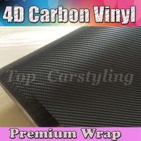 Black 4D Carbon Fibre VINYL WRAP Air BUBBLE FREE CAR BIKE / Air release Car / Boat / table Covering 1.52x30m/Roll 5x98ft