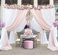 10 '* 10'* 10 '스테인리스를 가진 정연한 캐노피 겹쳐 쌓인 정연한 백색 관, 결혼식 단계 훈장 wedding mandap
