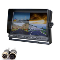 10 Inch Rear View Car Monitor 4CH 4PIN DC12V- 24V 4 Split Qua...