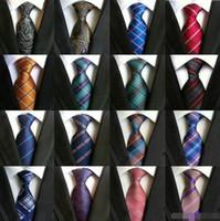 Corbatas para hombre Corbatas Corbata de seda elegante de Paisley Moda Corbata de boda hecha a mano clásica Corbata de negocios Corbata de rayas de rayas de punto de cuadros 16pcs Envío