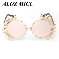 ALOZ MICC Lady Sunglasses Round Flower Frame Sunglasses Bran...
