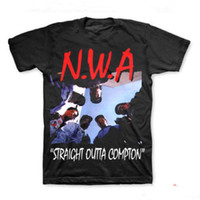 Al por mayor-NWA (N.W.A.) Straight Outta Compton Camiseta Hip-Hop Rap Camiseta 2 Estilo S-3XL
