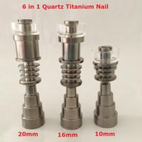 Gr2 Domeless Titanium TI nägel dabber 6 in 1 männlich weiblich fit 14mm 10mm 18mm gemeinsame glas bong für wachs elektrische Dab nagel dab kit