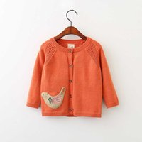 Everweekend Girls Sweet Knitted Chicken Cardigans Candy Colo...