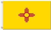 Heißer Verkauf New Mexiko-Staatsretrostil kennzeichnet Amerika-Staatsnation-Amtsfahnen mit Ösen 100D Polyester-Gewohnheitsflaggen