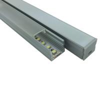 30 X 2 M Sätze / Los Aufputz Aluminium U-Kanal-Typ-Platz Aluminiumprofil für Wand eingebettete LED-Leuchten