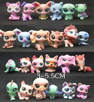 24 pz / borsa Littlest Pet Shop Q LPS-Littlest Negozio Mini Serie Pet Doll Toy Hollow Ornamenti Mano Spedizione Gratuita