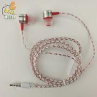 Cobwebbing Reticulate Feine Linien Kopfhörer mit Mikrofon Metall Kopf Hörmuschel Noise Cancelling Kopfhörer mit Mikrofon 5 Farbe 300ps / lot