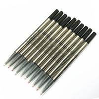 Envío gratis 10 PCS / LOT 0.5mm Roller Pen Refill Diseñar la buena calidad Black Rollerball Pen Ink Relleval For Gift School Office Proveedores