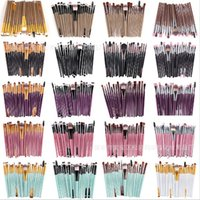 20Pcs / set Pennelli Multi Style diversi per Make-up Professional Ombretto Foundation Sopracciglio Lip Makeup Brush Suit Make Up Tools