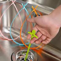 بالوعة المطبخ الحمام الأنابيب استنزاف الأنظف إزالة الشعر تنظيف دش الحمام المجاري تسد خط طويل البلاستيك هوك 51 سنتيمتر ZA3452