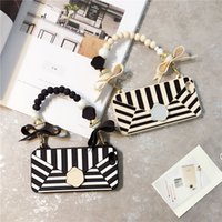 Fashion Black Stripe Soft Silicon Women' s Handbag Phone...